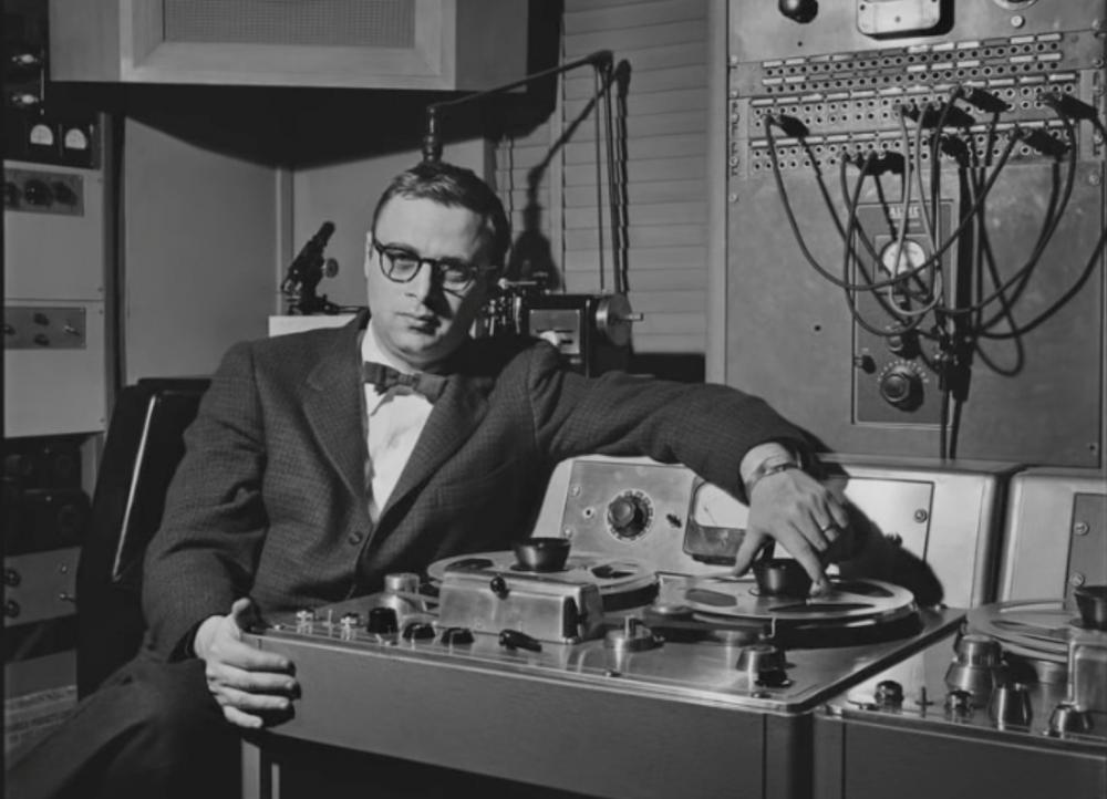 Rudy Van Gelder in his Hackensack studio in his house. (YouTube)