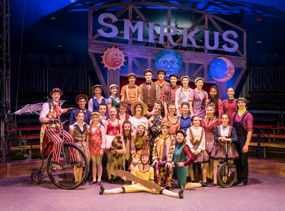 The 2016 Circus Smirkus Troupers, ages 11 to 18. This year, their show is called 'Up, Hup and Away: The Invention of Flight.' (Courtesy Robert Sanson, Circus Smirkus)