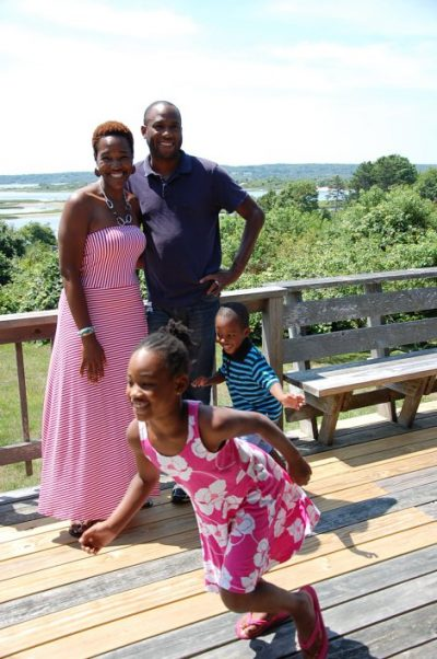 The author, pictured with her family in Martha's Vineyard, 2014. (Courtesy)