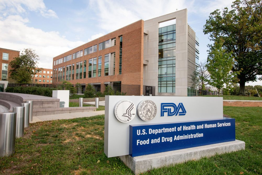 The Food & Drug Administration (FDA) campus in Silver Spring, Md.  This photo was taken Oct. 14, 2015. (Andrew Harnik/AP)