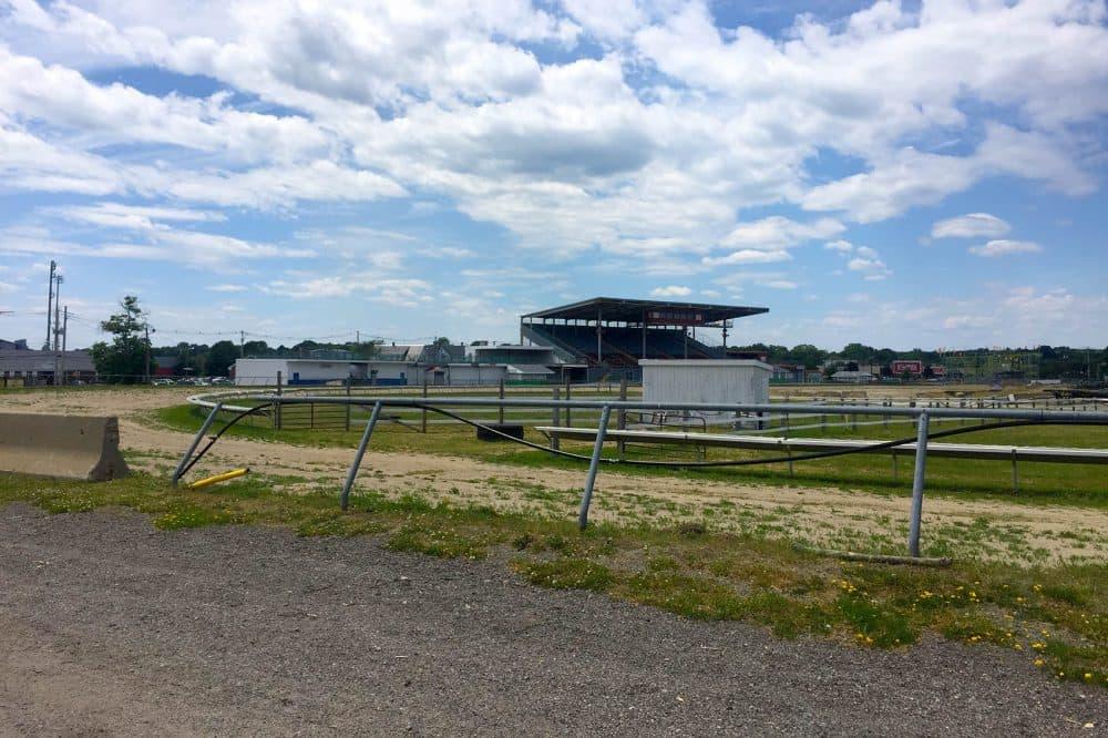 Brockton Fairgrounds is in a state of disrepair. (Bruce Gellerman/WBUR)