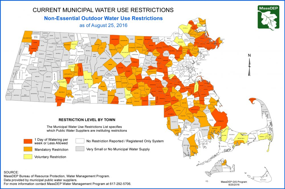 Map Amid Bad Drought These Mass Towns Have Imposed Water