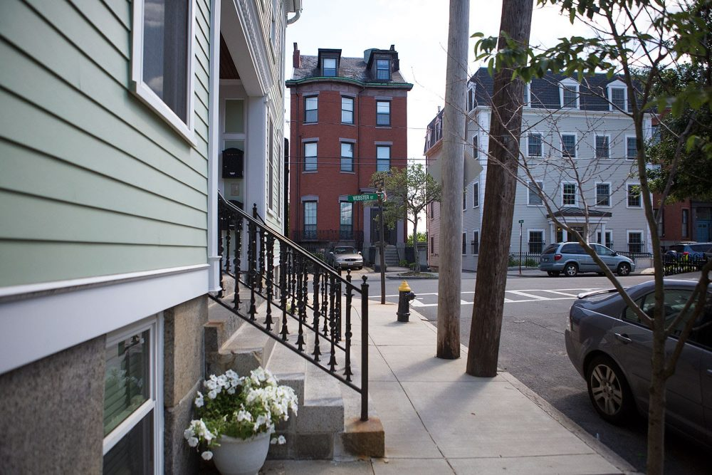 The intersection of Lamson and Webster streets in East Boston are seen in this 2015 file photo. (Jesse Costa/WBUR)