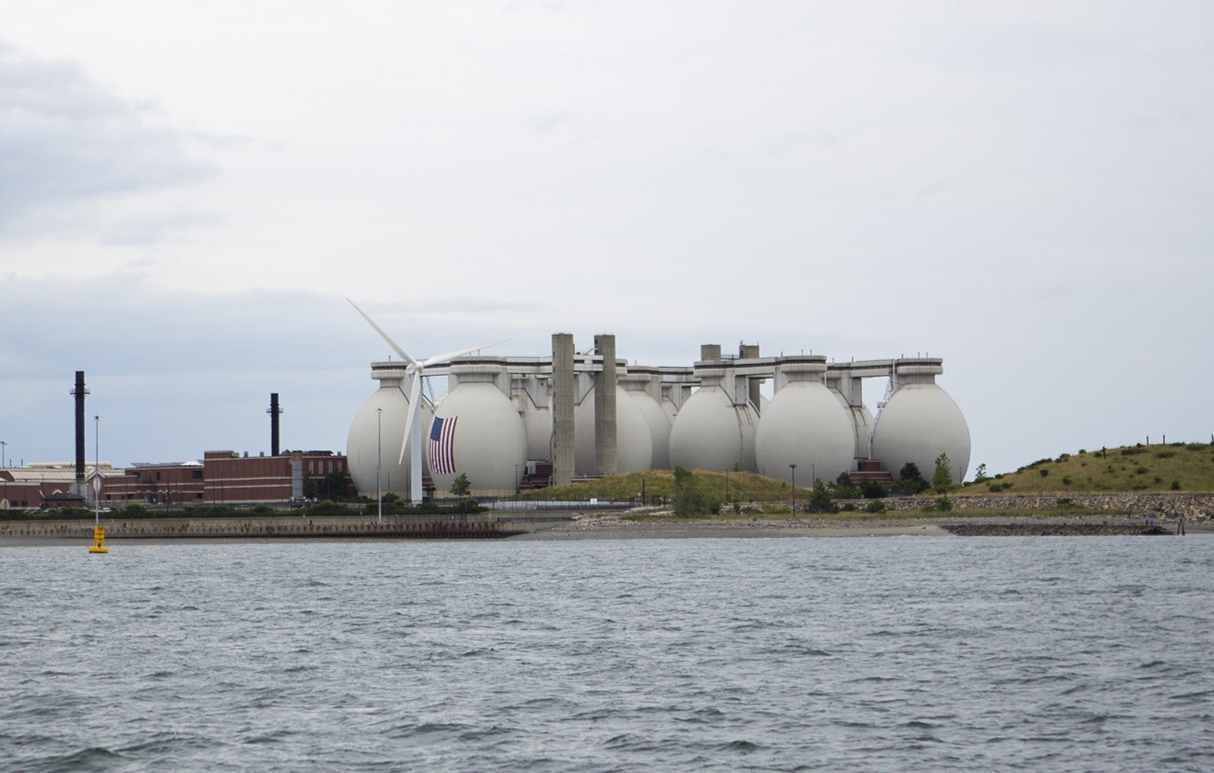 Deer Island Wastewater Treatment Plant in Winthrop. (Jesse Costa/WBUR)