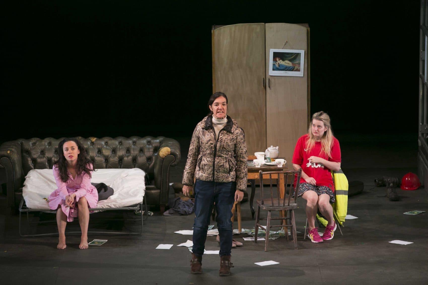 Kate Stanley Brennan, Hilda Fay and Rachel Gleeson. (Courtesy Evgenia Eliseeva/American Repertory Theater)