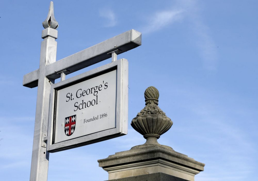A new report details widespread abuse at St. George's School in Middletown, Rhode Island. (Steven Senne/AP)
