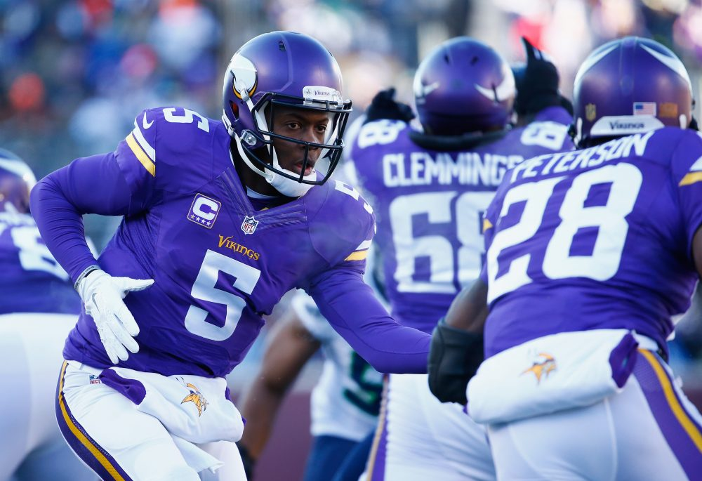 Teddy Bridgewater is out for the year with multiple knee injuries. Are the Vikings doomed? Only A Game analyst Charlie Pierce weighs in. (Jamie Squire/Getty Images)