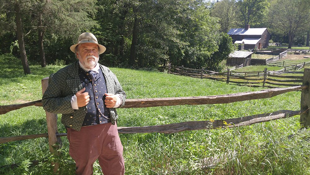 Tom Kelleher is a historian at Old Sturbridge Village who has researched and written about the Year Without a Summer. (Brian Mann/NCPR)