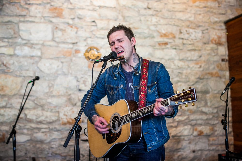 Brian Fallon performs at SXSW on March 17, 2016 in Austin, Texas. (Drew Anthony Smith/Getty Images for Island Records)