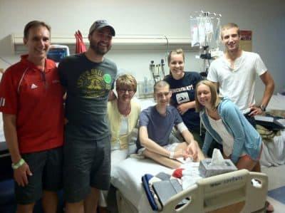 Nate Kramer, center, with his family. (Courtesy of Vince Kramer)