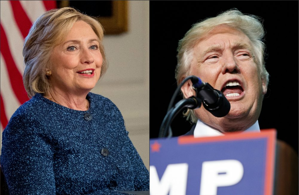 Democratic presidential candidate Hillary Clinton, left, and Republican presidential candidate Donald Trump, right. (AP photos)
