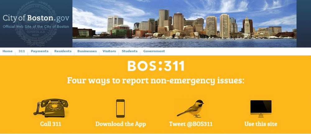 (Screenshot of BOS:311 webpage)