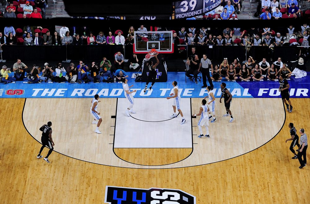 A second-round game from last year's NCAA Men's Basketball Tournament on March 19, 2016 in Raleigh, N.C. (Grant Halverson/Getty Images)