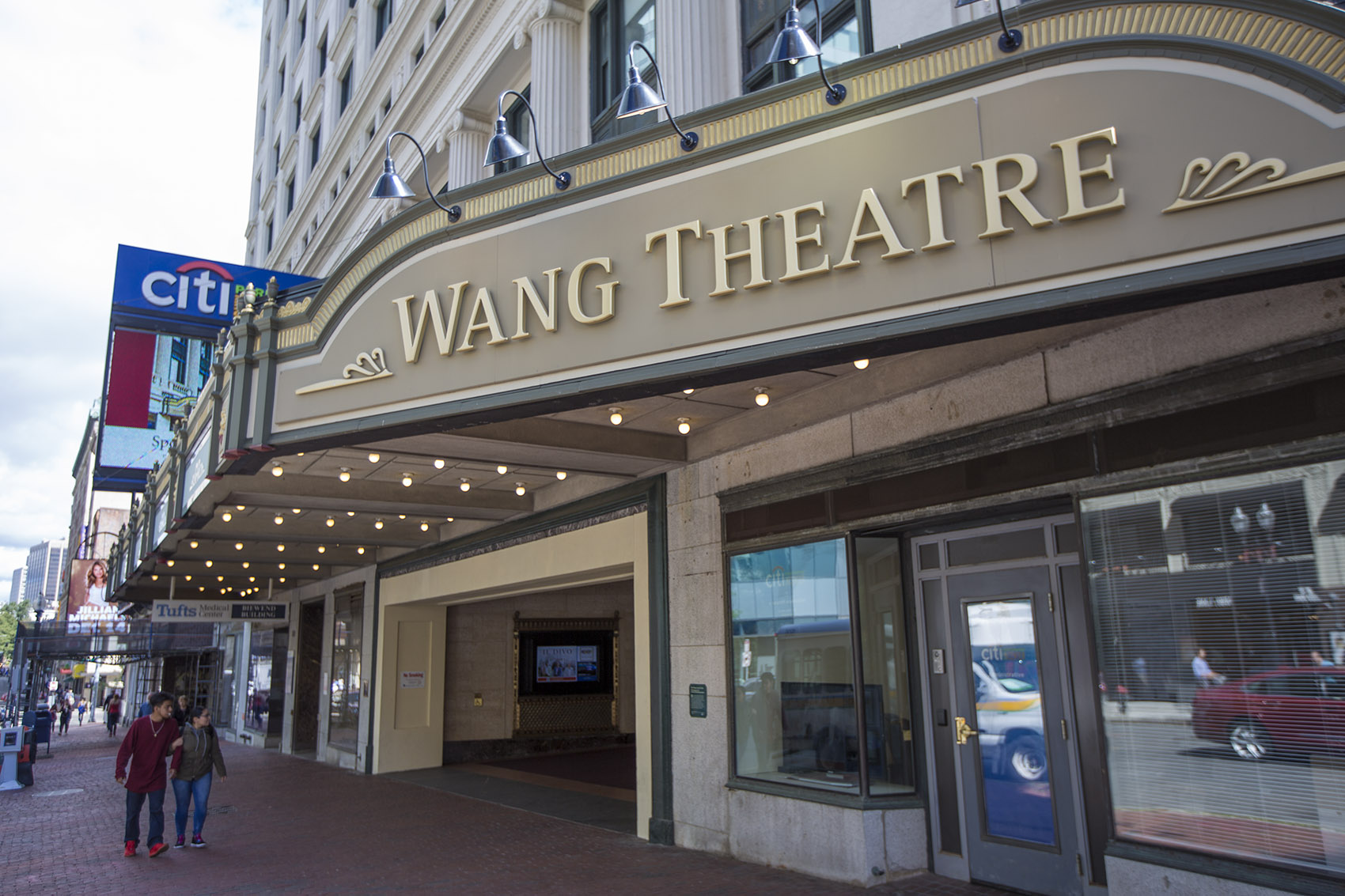 The Wang Theatre on Tremont Street (Jesse Costa/WBUR)