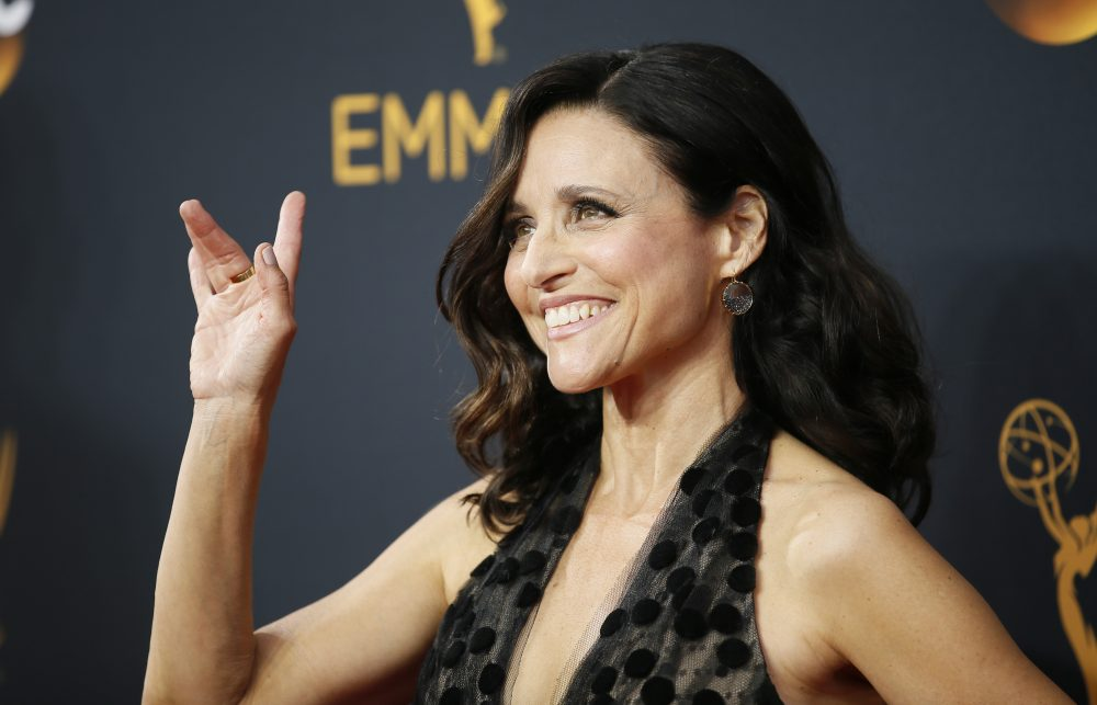 Julia Louis-Dreyfus arrives at the 68th Primetime Emmy Awards on Sunday, Sept. 18, 2016, at the Microsoft Theater in Los Angeles. (Danny Moloshok/Invision for the Television Academy/AP)