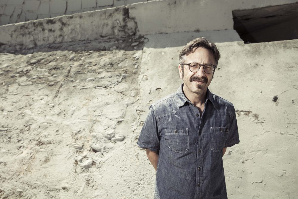 Comedian Marc Maron who hosts the acclaimed podcast WTF with Marc Maron will be performing two shows in Boston Saturday. (Courtesy Avalon Management)