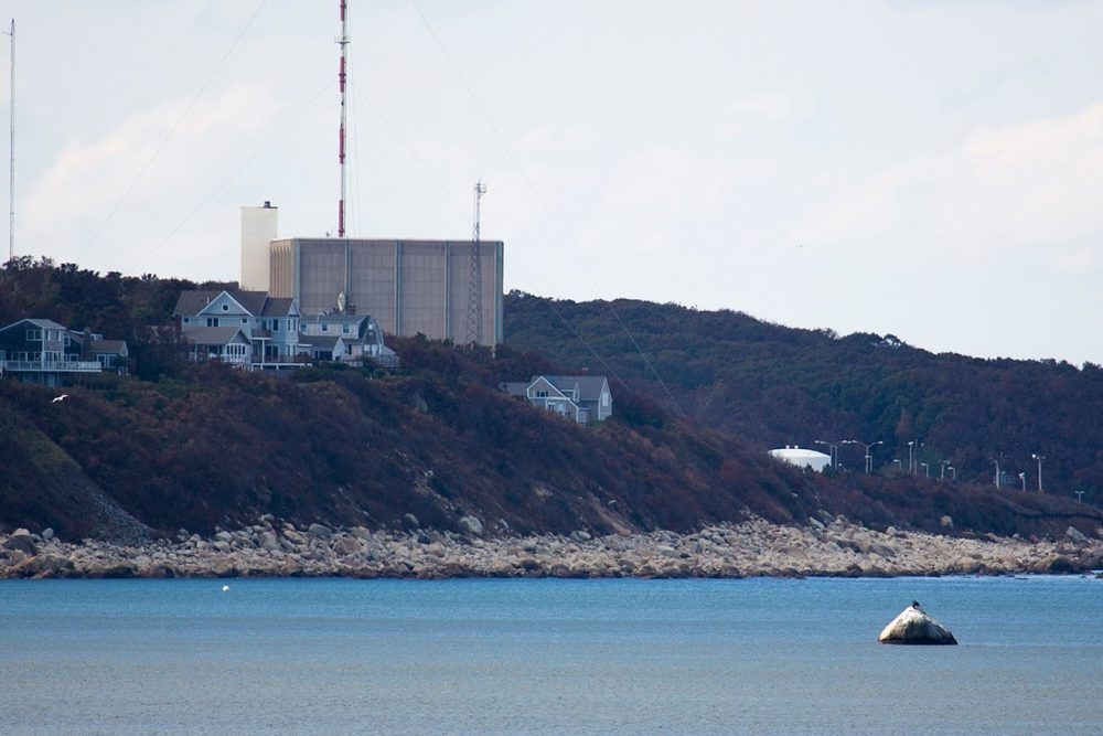 Pilgrim Nuclear Power Station in Plymouth (Jesse Costa/WBUR)