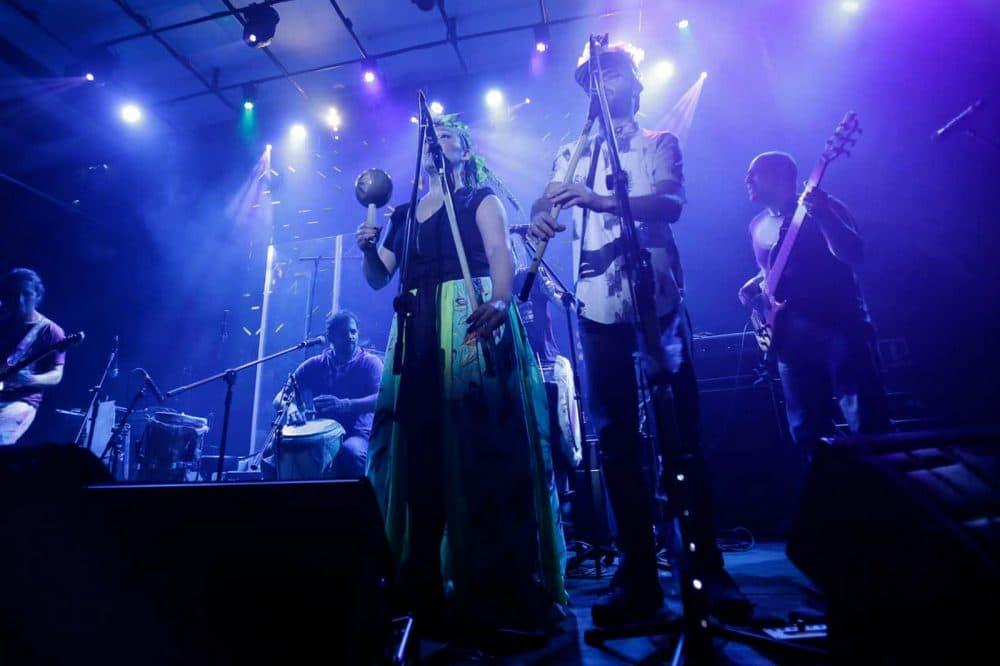 Bogota-based band Curupira performing on stage. (Courtesy of BOmm)