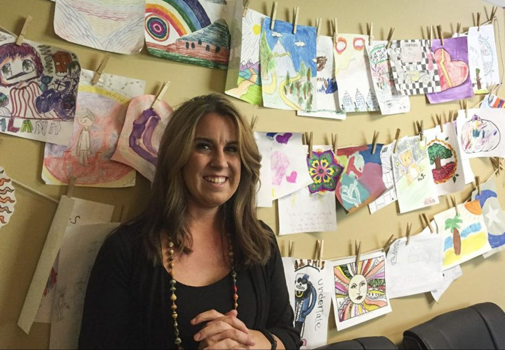 Kate Nesterwitz, a marriage and family therapist, at her office in Littleton, Colo. (Ben Markus/CPR News)