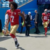 According to a recent survey, Colin Kaepernick is the most disliked player in the NFL. (Grant Halverson/Getty Images)