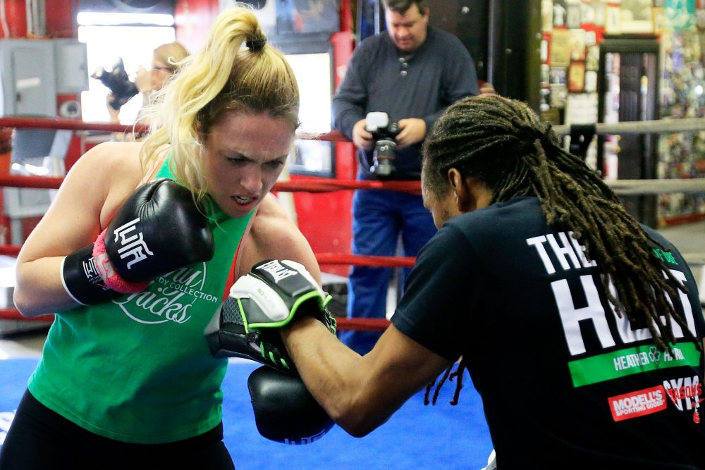 Heather Hardy is an undefeated boxer -- but she's fighting for more than her own record. (Cliff Hawkins/Getty Images)