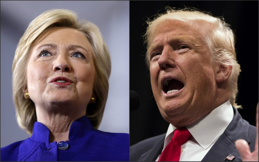 The major-party nominees for the presidency, Hillary Clinton, right, and Donald Trump. (AP photos)