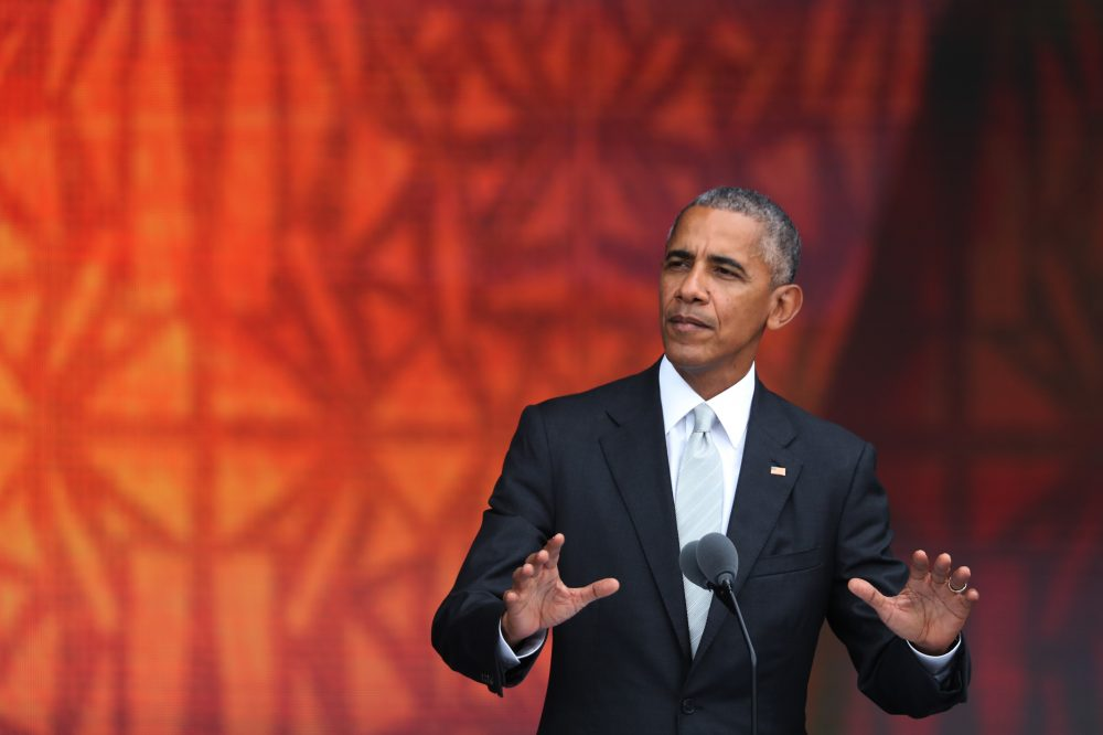 President Barack Obama speaks during the opening ceremony of the Smithsonian National Museum of African American History and Culture. (Manuel Balce Ceneta/AP)