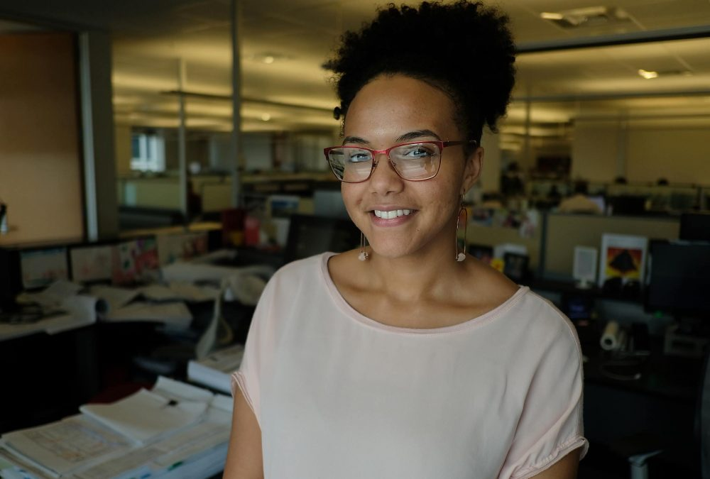 Devanne Pena was surprised to discover she is set to be one of three registered black female architects in Austin. That lack of diversity is an issue being tackled by UT Austin's School of Architecture. (Jorge Sanhueza-Lyon/KUT)