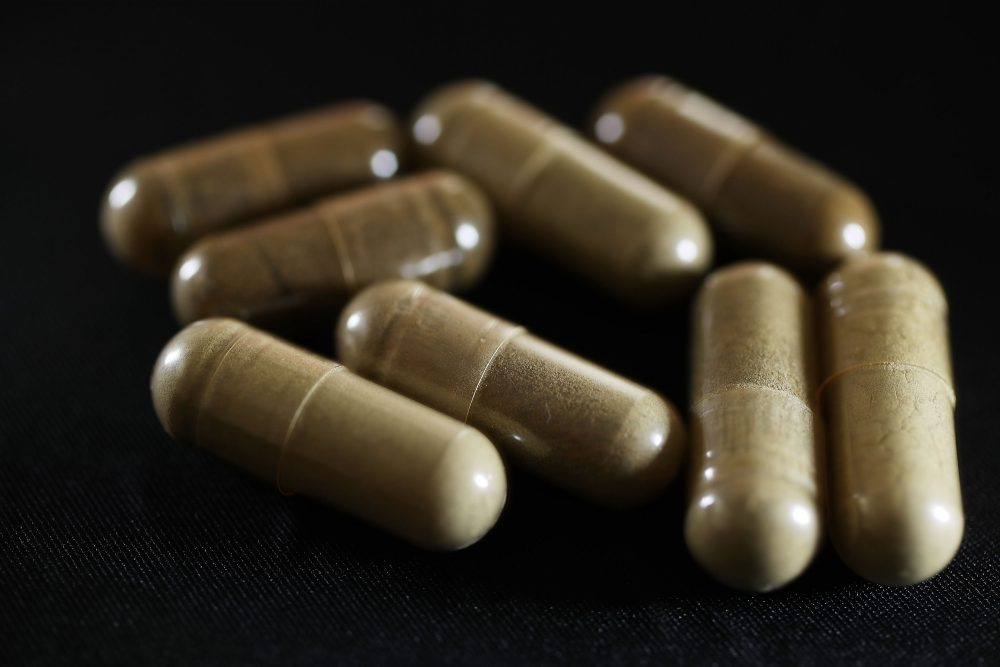 Capsules of the drug kratom are seen on May 10, 2016, in Miami. (Joe Raedle/Getty Images)