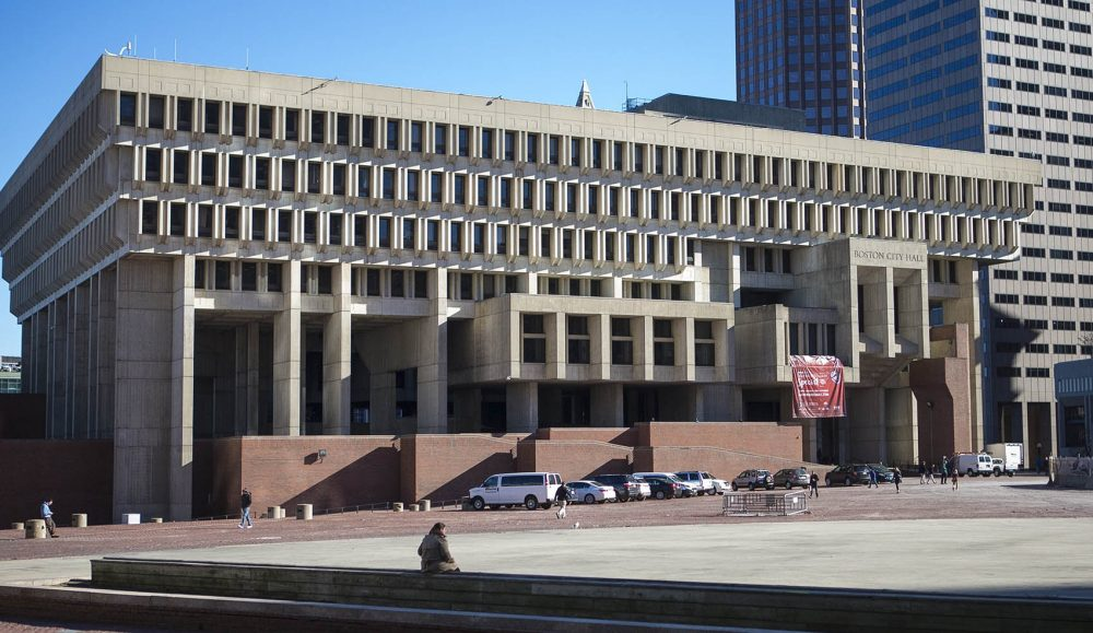 Boston City Hall, November 17, 2015. (Jesse Costa/WBUR)