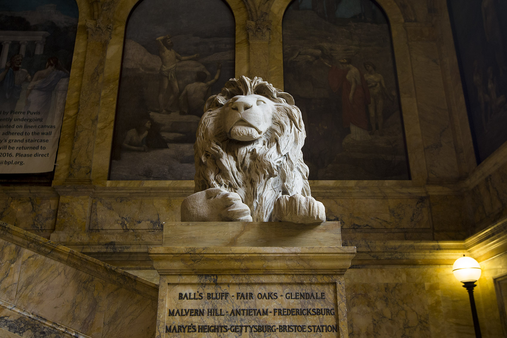 The History Behind The Lion Sculptures At The Boston
