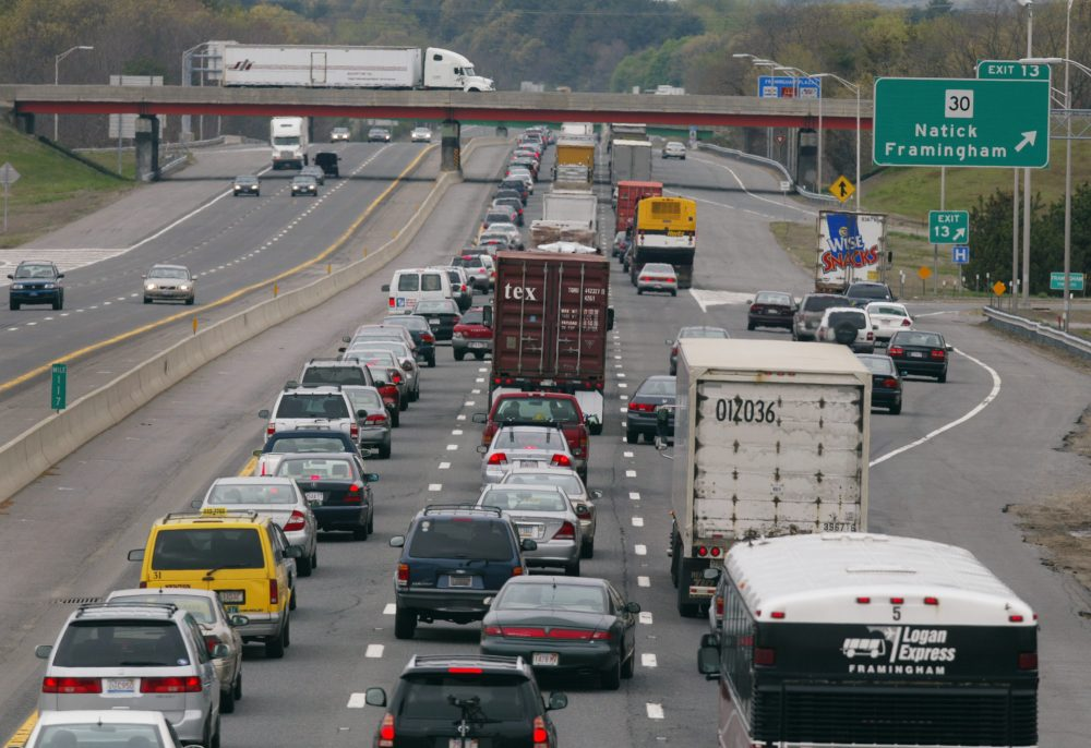 New problems call for new ideas, writes Frederick Hewett, and new taxes make sense when they replace those that no longer work. Pictured: Massachusetts Turnpike, Framingham. (Julia Malakie/AP)