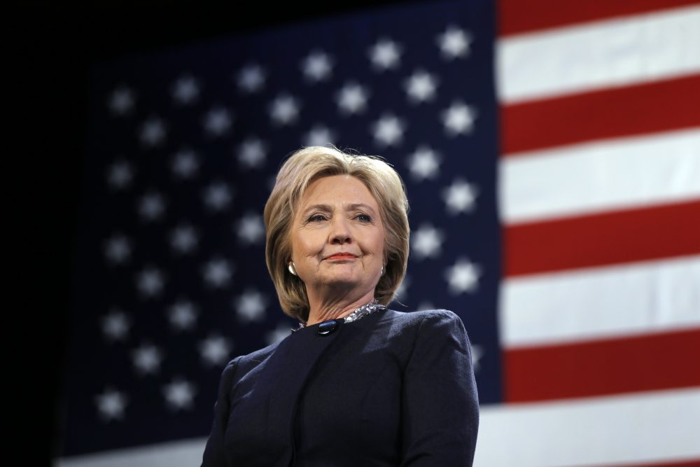Democratic presidential candidate Hillary Clinton is introduced during a campaign stop Friday, Jan. 22, 2016, in Rochester, N.H. (Matt Rourke/AP)