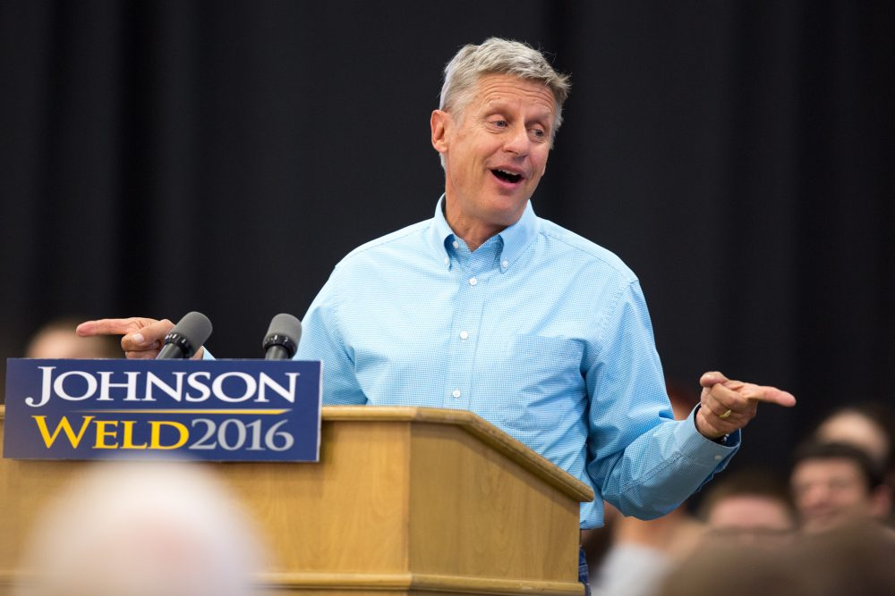 Libertarian presidential candidate Gary Johnson (Scott Morgan/AP)