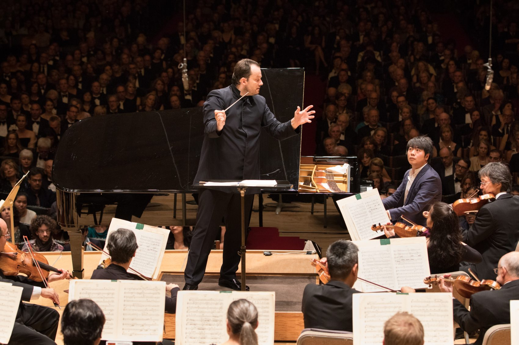 Andris Nelsons leads the Boston Symphony Orchestra on opening night. (Courtesy Michael Blanchard)