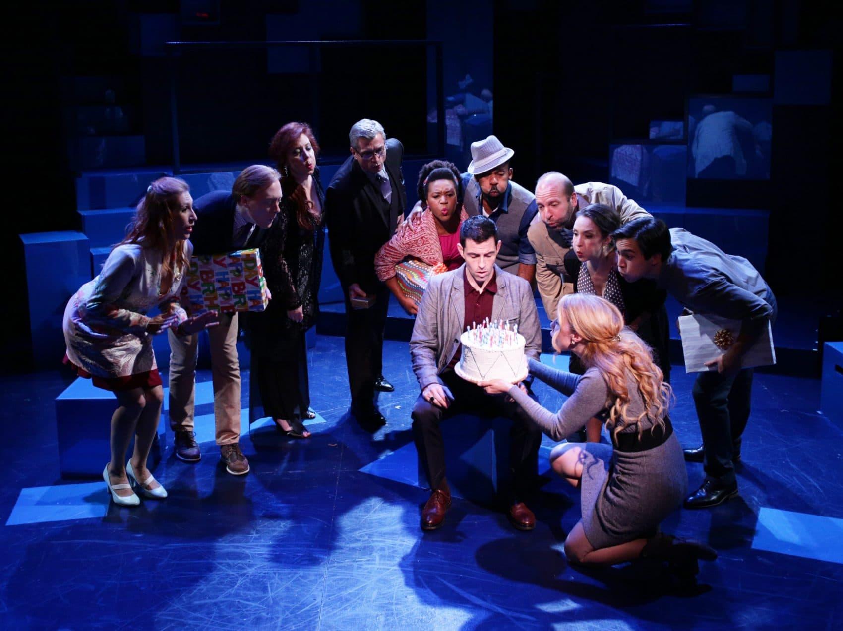 "The cast of Lyric Stage's ""Company."" (Courtesy Mark S. Howard)"