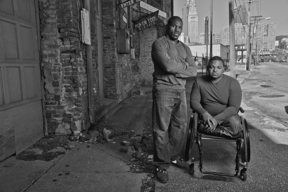 Paralympian Dartanyon Crockett (left) and Leroy Sutton both grew up in Cleveland's inner city. (Brownie Harris)