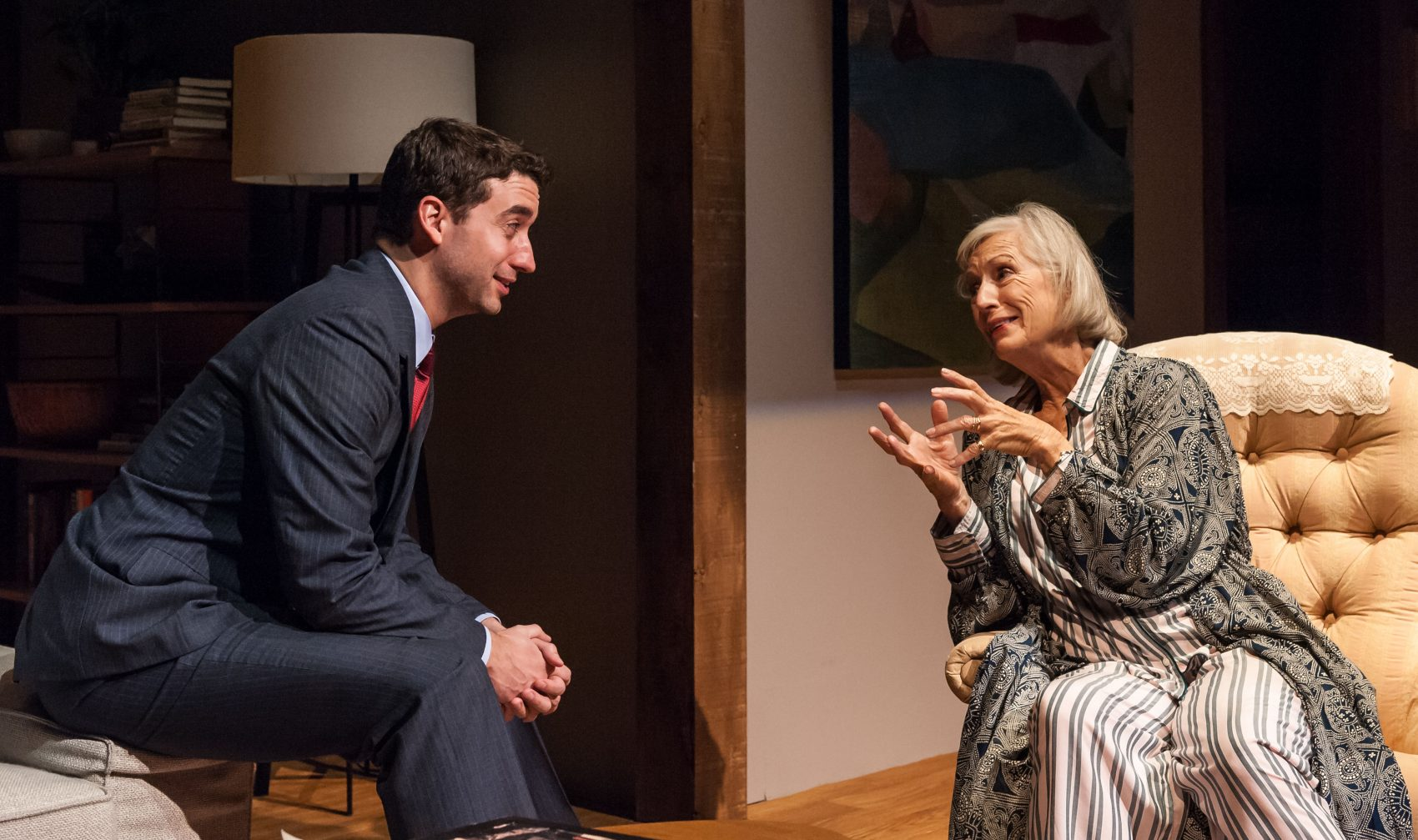 "Alejandro Simoes and Sarah deLima in ""Majorie Prime."" (Courtesy A.R. Sinclair Photography/Central Square Theater)"