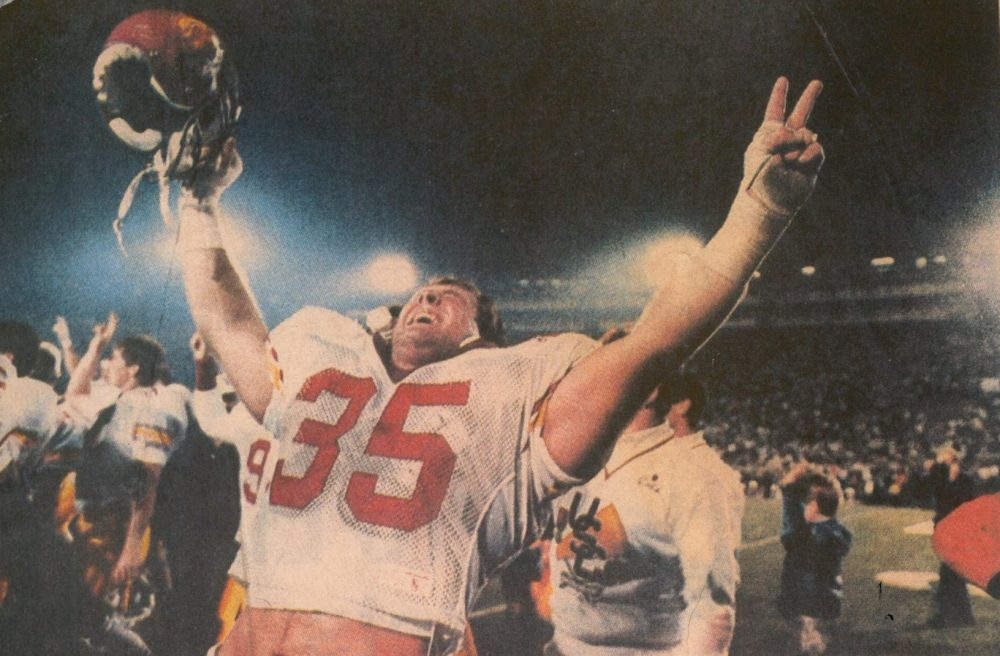 """The Business of Amateurs"" is a new documentary from former USC lineman Bob DeMars. It features Scott Ross, above, who played alongside Junior Seau at USC. (Courtesy of Bob DeMars)"