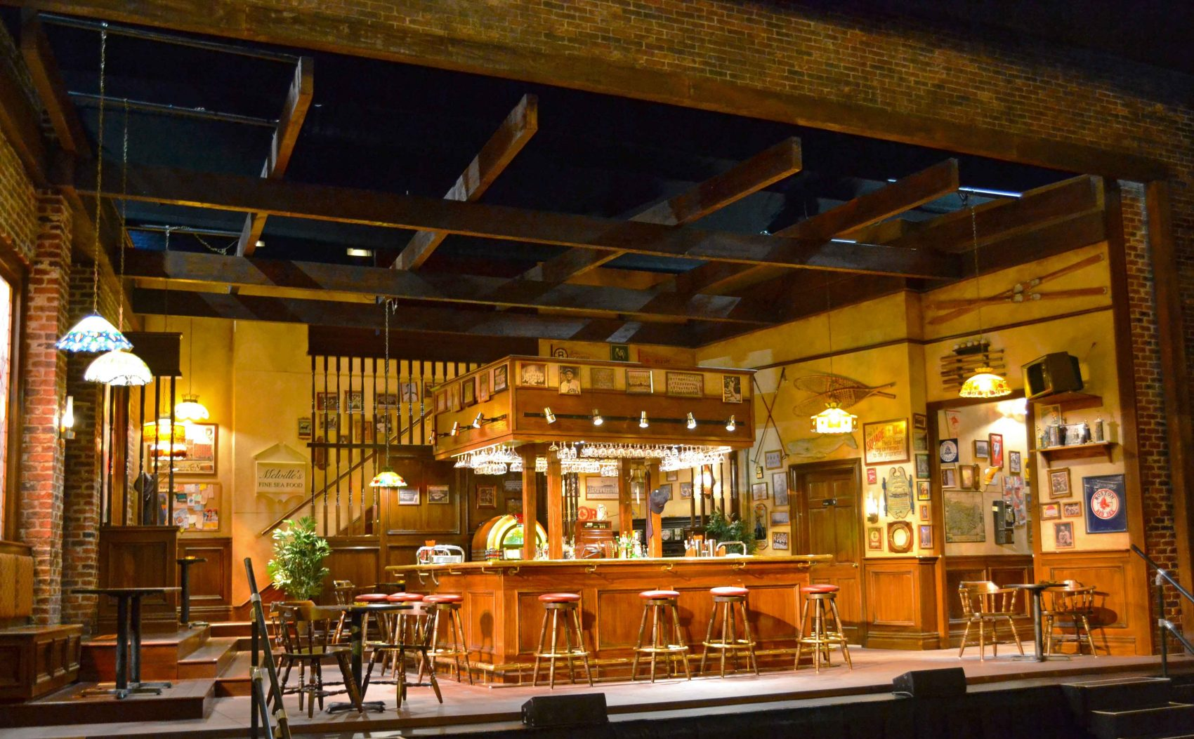 "The set of ""Cheers Live On Stage"" re-creates the beloved bar just as we remembered it. (Courtesy Matthew Pacific)"