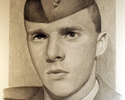 Vincent Santaniello, drawn by Michael Reagan (Courtesy of Michael Reagan)
