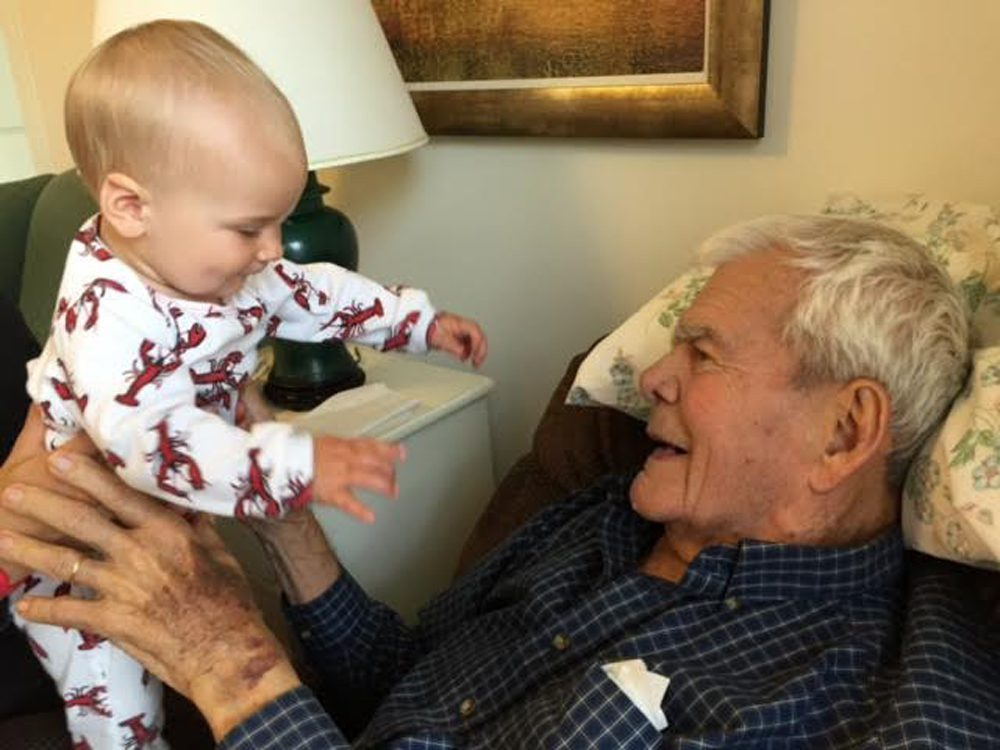 William Barney, with his great-granddaughter, Abby. (Courtesy Libby Holman)