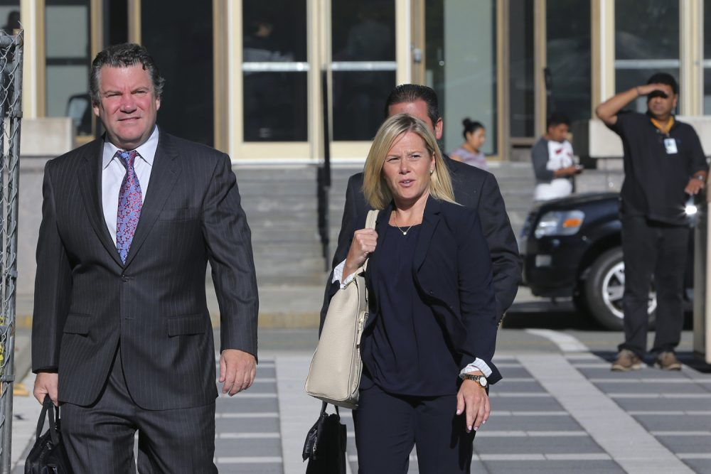 New Jersey Gov. Chris Christie's former Deputy Chief of Staff Bridget Anne Kelly, right, and her attorney Michael Critchley Jr., arrive at Federal Court for a hearing Tuesday, Sept. 13, 2016, in Newark, N.J. (Mel Evans/AP)