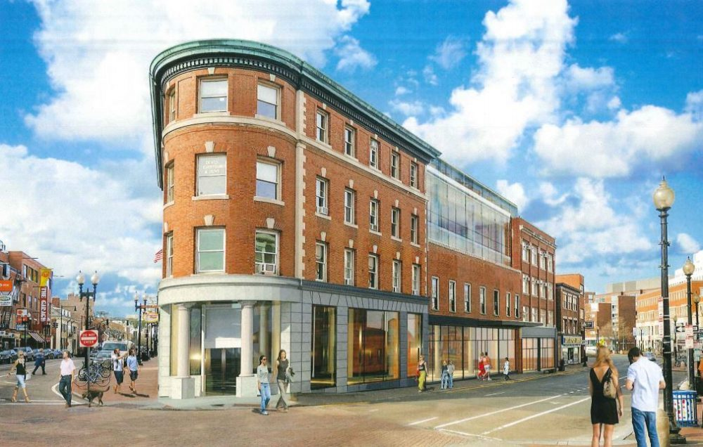 Whether you consider Harvard Square's heyday long past or not, writes Alex Green, news that the chopping block has been primed for two iconic institutions in the heart of the Square is still cause for alarm. Pictured: An artist's rendering of the proposed Harvard Collection redevelopment (Courtesy of Equity One)