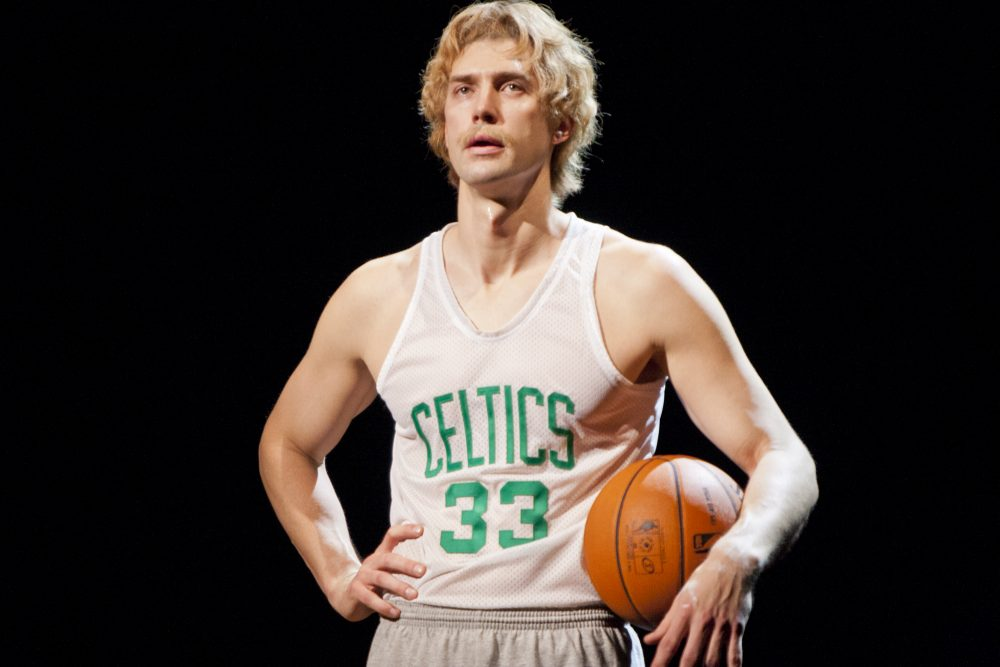 Tug Coker as Larry Bird in Magic/Bird. (Courtesy)