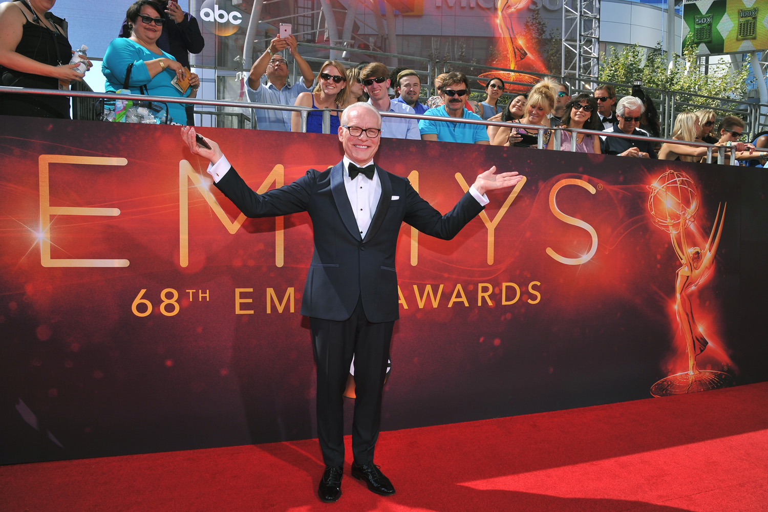 Tim Gunn arrives at the 68th Primetime Emmy Awards on Sunday, Sept. 18, 2016, at the Microsoft Theater in Los Angeles. (Vince Bucc/AP)