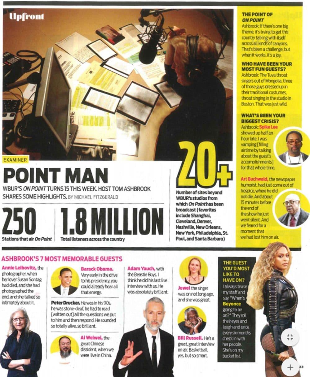 The Boston Globe Magazine spread from Sunday, September 11, 2016. (Courtesy Boston Globe Media)