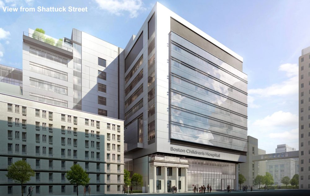 A rendering of the proposed clinical building at Boston Children's Hospital. (Courtesy Boston Children's Hospital)