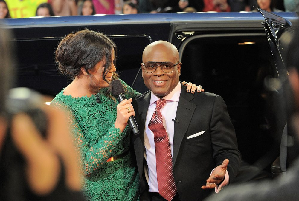 "Antonio ""L.A."" Reid arrives at the ""The X Factor"" 2012 season finale show in Los Angeles. (Jordan Strauss/Invision/AP)"
