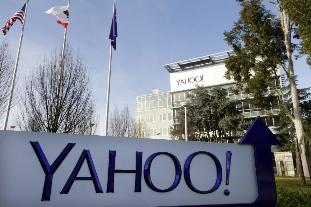 This Jan. 14, 2015 file photo shows Yahoo's headquarters in Sunnyvale, Calif. (Marcio Jose Sanchez/AP)